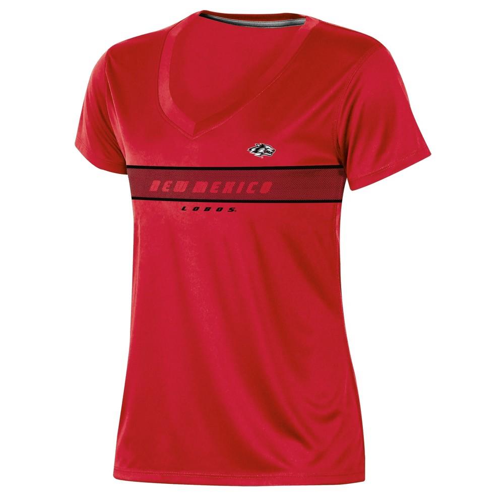 New Mexico Lobos Women's Short Sleeve V-Neck Performance T-Shirt - S, Multicolored