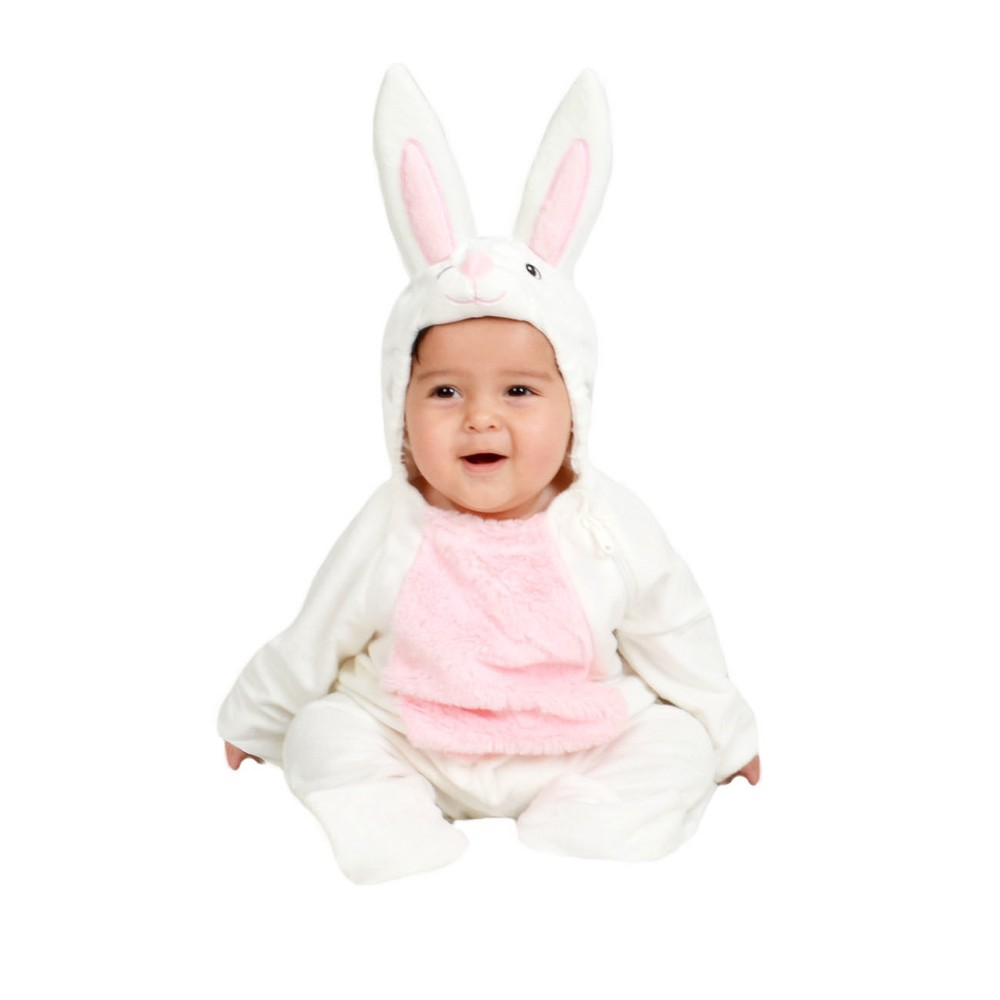Baby Plush Bunny Costume White 0-6M - Spritz, Infant Unisex