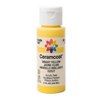 Delta Ceramcoat Acrylic Paint (2oz) - Bright Yellow