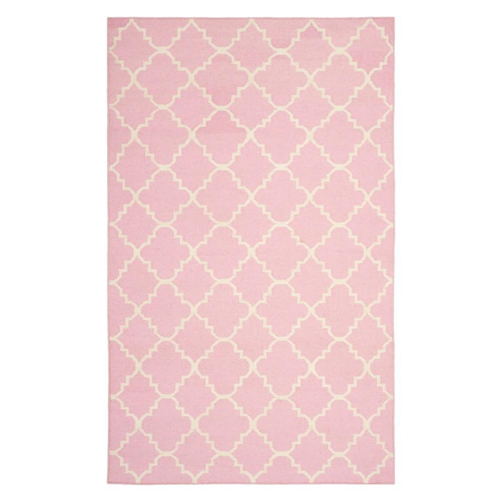 6'X9' Quatrefoil Design Area Rug Pink/Ivory - Safavieh