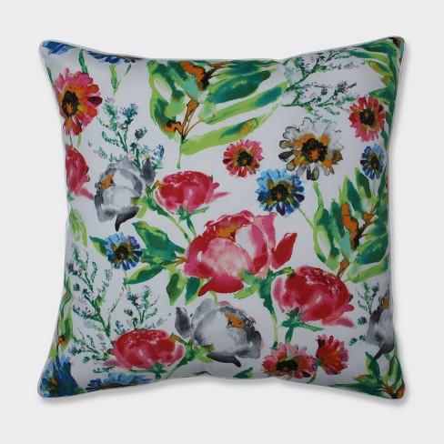 "25"" Flower Mania Petunia Floor Pillow Pink - Pillow Perfect - image 1 of 1"