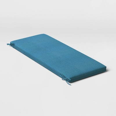Woven Outdoor Bench Cushion DuraSeason Fabric™ Blue - Threshold™