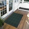 Dark Green Solid Doormat - (3'X4') - HomeTrax - image 2 of 4
