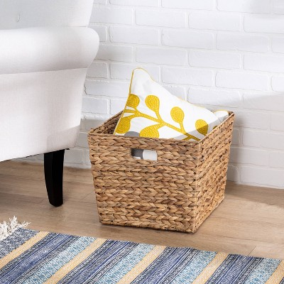 Honey-Can-Do Large Tall Square Natural Basket