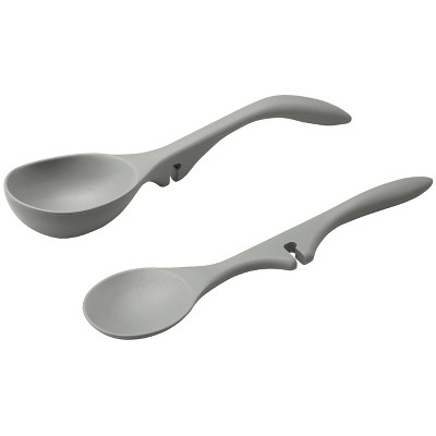 Rachael Ray 2pc Tools & Gadgets Silicone Lazy Tools Gray
