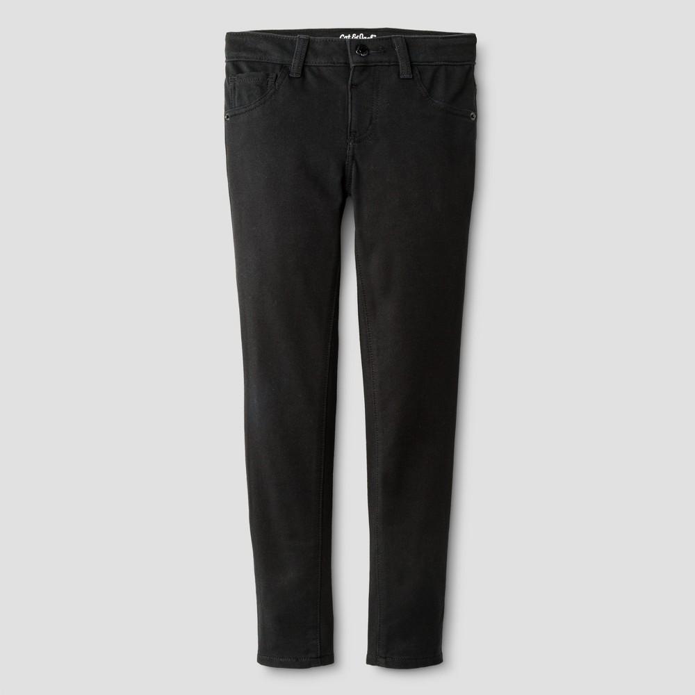 Girls' Knit Jeggings Pants - Cat & Jack Black L Plus, Girl's, Size: Large PLUS