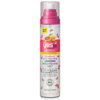 Yes To Grapefruit Vitamin C Glow Boosting Unicorn Brightening Mist - 3.8 fl oz