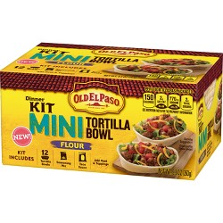 Old El Paso Dinner Kit Mini Taco Bowl - 9.3oz