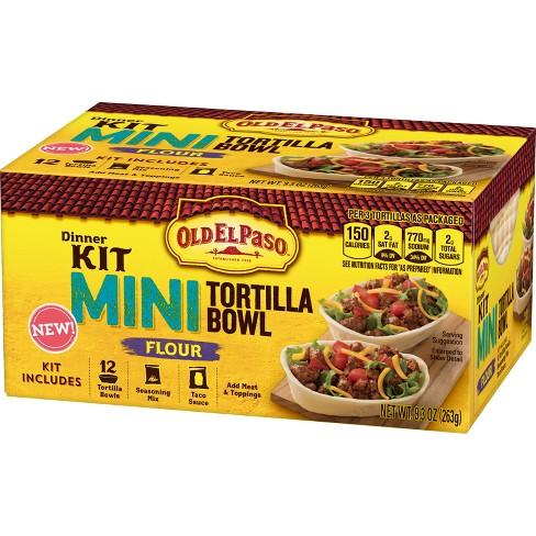 Old El Paso Dinner Kit Mini Taco Bowl - 9.3oz - image 1 of 3