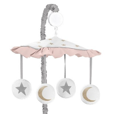 Sweet Jojo Designs Musical Mobile - Celestial - Pink/Gold