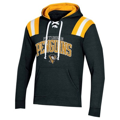 NHL Pittsburgh Penguins Men's Hat Trick Laced Hoodie - XXL