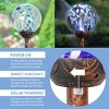"""31"""" Solar Pearlized Glass Honeycomb Finial Resin Garden Stake Bronze - Exhart - image 4 of 4"""