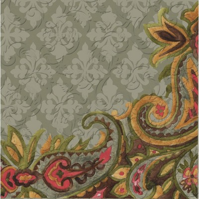 Evergreen Cypress Home Vintage Pineapple Embossed Paper Luncheon Napkin, 20 count