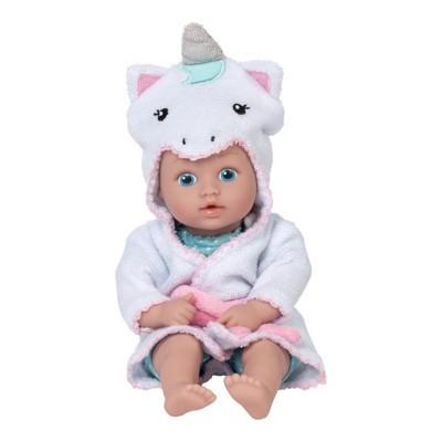 Adora Baby Bath Toy Unicorn, 8.5 inch Bath Time Baby Tot Doll with QuickDri Body