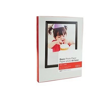 "MyOfficeInnovations Basic Glossy Photo Paper 8.5"" x 11"" 100/Pack (19900/13607) 651611"