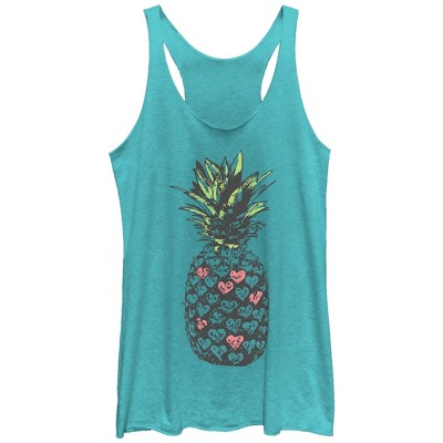 Women's Lost Gods Heart Pineapple Racerback Tank Top