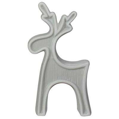 "Northlight 7.5"" Gray Standing Reindeer Christmas Tabletop Decor"