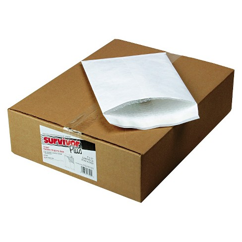 SURVIVOR DuPont Tyvek Air Bubble Mailer, Self-Seal, Side Seam, 9 x 12, White, 25/Box - image 1 of 1