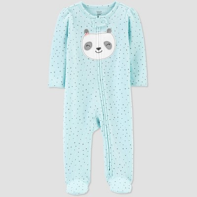 Baby Girls' Panda 1pc Pajama - Just One You® made by carter's Blue 6M