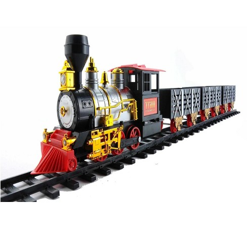 Northlight 20-Piece Black and Red Battery Operated Lighted & Animated Classic Train Set with Sound - image 1 of 4