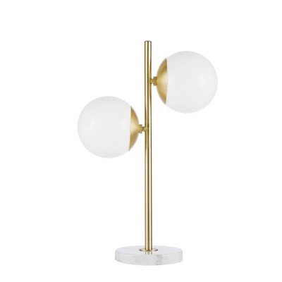 Holloway Table Lamp White/Gold