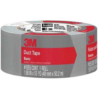 3M Basic Duct Tape, 1.88 Inches x 55 Yards, Gray