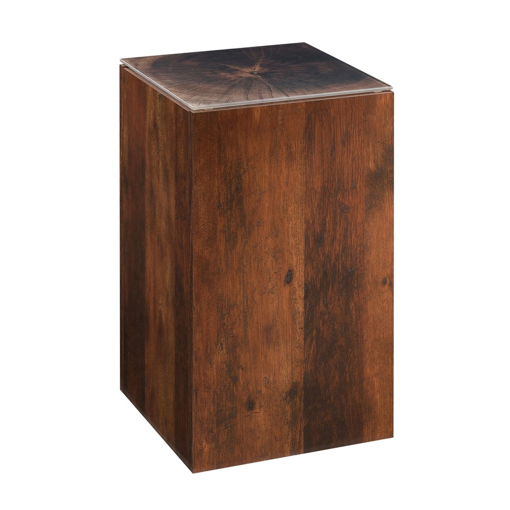 Image of Viabella Stump Side Table Curado Cherry Finish - Sauder, Brown