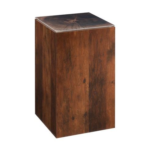 Viabella Stump Side Table Curado Cherry Finish - Sauder - image 1 of 4