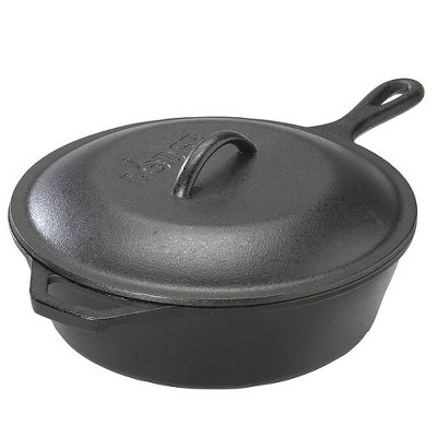 Lodge Cast Iron Covered Deep Skillet 3.2 Quart