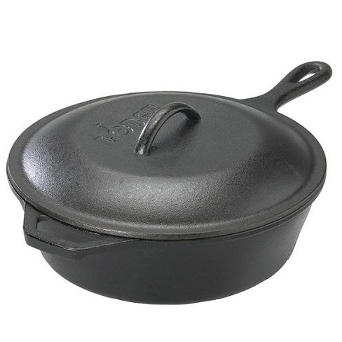 Lodge Cast Iron Covered Deep Skillet 3.2 Quart - image 1 of 3