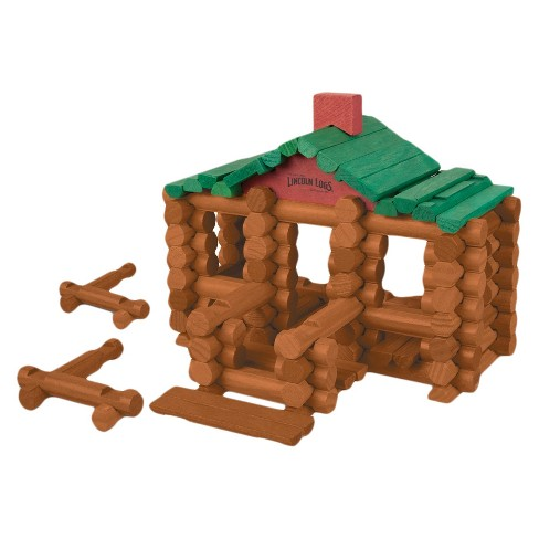 Lincoln Logs 100th Anniversary Tin Wooden Toy Set - 111 Piece : Target