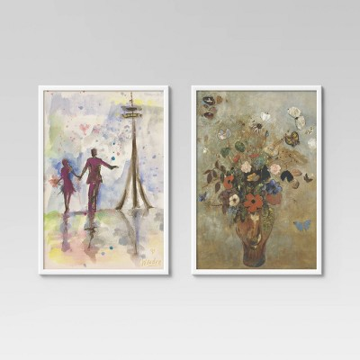 "(Set of 2) 24"" x 36"" Poster Frame White - Room Essentials™"