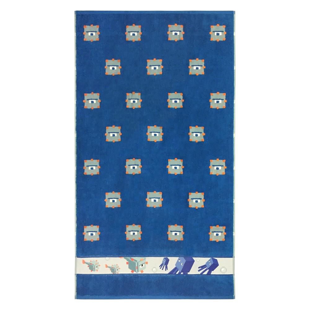 Image of Minecraft Bath Towel Blue