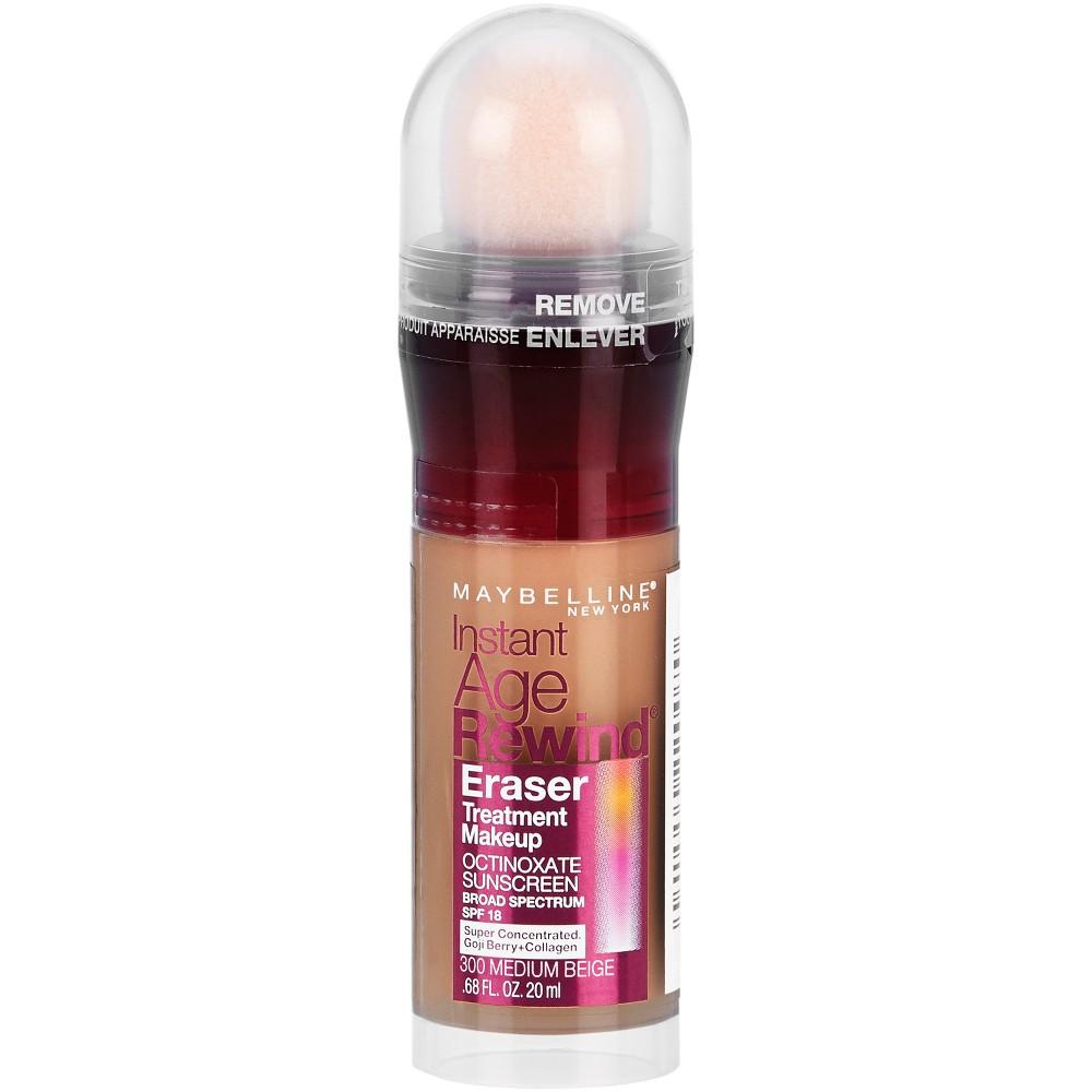 Maybelline Instant Age Rewind Treatment Foundation Makeup Spf 18 300 Medium Beige 0 68 Fl Oz