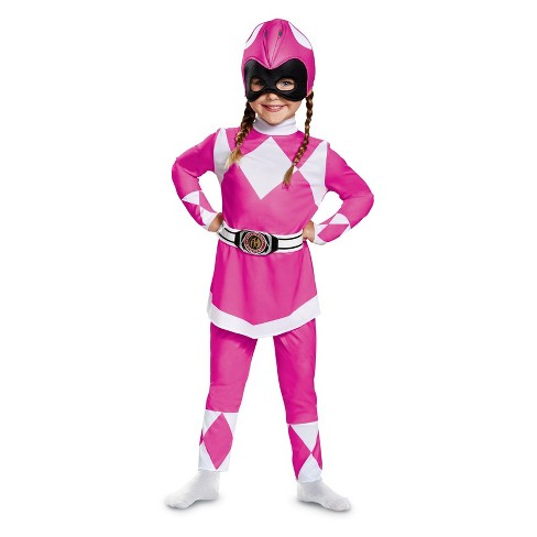 Toddler Girls' Power Rangers Mighty Morphin Pink Ranger Halloween Costume 3T-4T - image 1 of 1