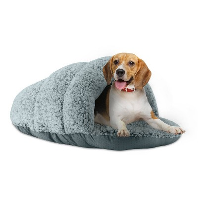 Sleepy Pet Slipper Covered Dog Bed - M - Mineral