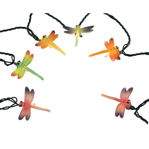 J. Hofert Co 10ct Dragonfly Summer Patio String Light Set Green Wire - Clear - image 1 of 2