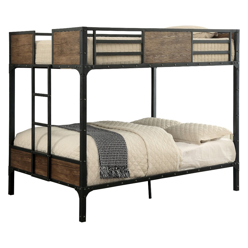Full Navii Kids Bunk Bed Black - Sun & Pine