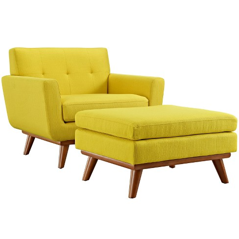 Engage 2pc Armchair and Ottoman Sunny - Modway - image 1 of 7