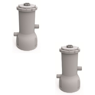 JLeisure Avenli Clean Plus 1000 GPH GFCI Above Ground Swimming Pool Filter Cartridge Pump with 32 mm Hoses for Pools Up To 5,100 Gallons (2 Pack)