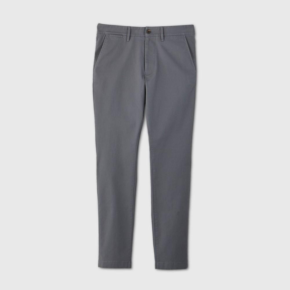 Men 39 S Skinny Fit Chino Pants Goodfellow 38 Co 8482 Thundering Gray 28x32