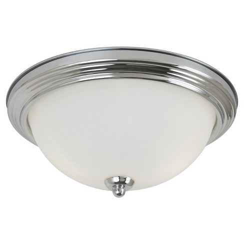 Sea Gull Lighting One Light Ceiling Fixture - Chrome with Satin Etched Glass - image 1 of 1