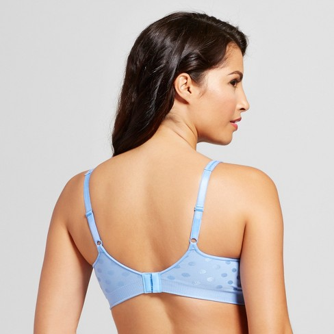 ac06015fca Hanes Women s Polka Dot Comfort Flex Fit Full Coverage Wireless Bra - Blue  Dot 2XL   Target