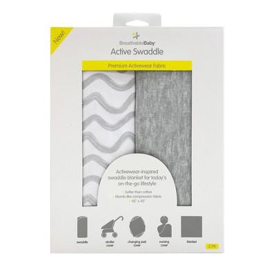 BreathableBaby Swaddle Blanket 2pk - Gray
