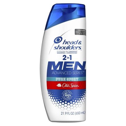 Head & Shoulders Old Spice Pure Sport Dandruff 2 in 1 Shampoo + Conditioner - 21.9 fl oz - image 1 of 3