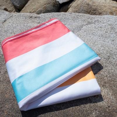 Great Bay Home Reversible Microfiber Beach Towel : Target