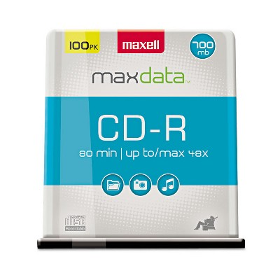 Maxell CD-R Discs 700MB/80min 48x Spindle Silver 100/Pack 648200