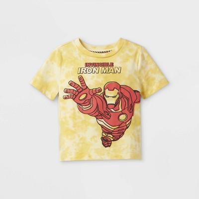 Toddler Boys' Marvel Iron Man Short Sleeve Graphic T-Shirt - Yellow