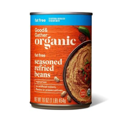 Organic Fat Free Seasoned Refried Pinto Beans 16oz - Good & Gather™