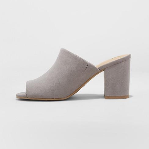 12661ff3245 Women s Didi Block Heel Mules - A New Day™ Gray 11   Target